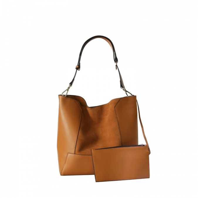Genuine Leather Women's Leisure Bag Set