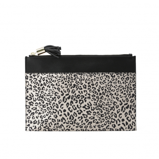 Leopard Print Women's Clutch Bag