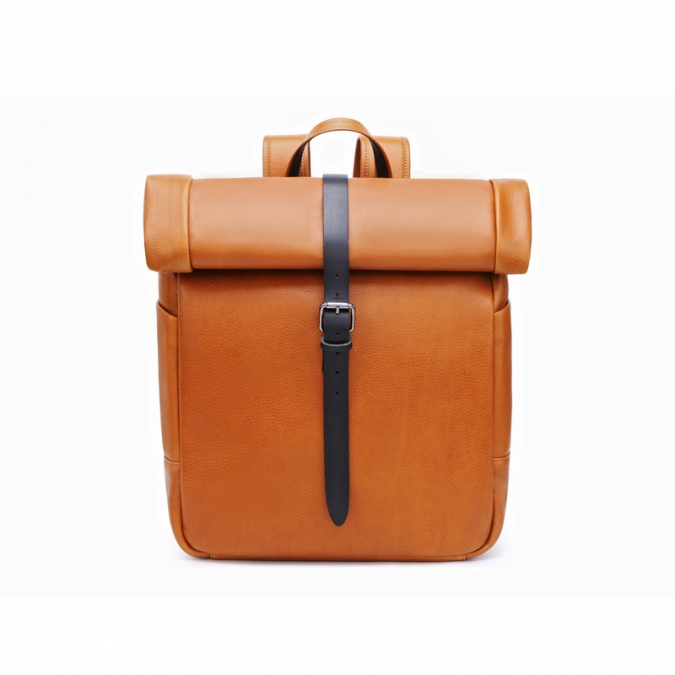 Fashionable Men's Genuine Leather Backpack