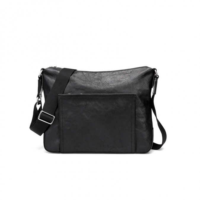Black Vintage Genuine Leather Messenger Bags
