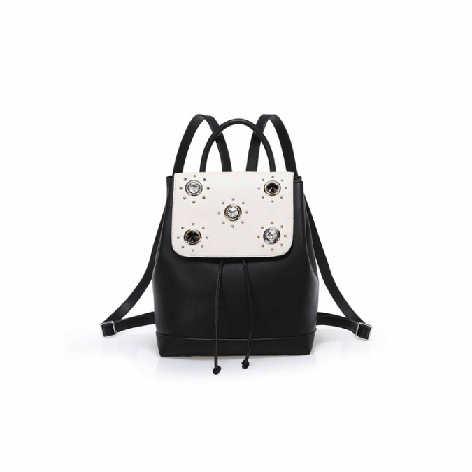 Crystal Cow Leather Women Backpack