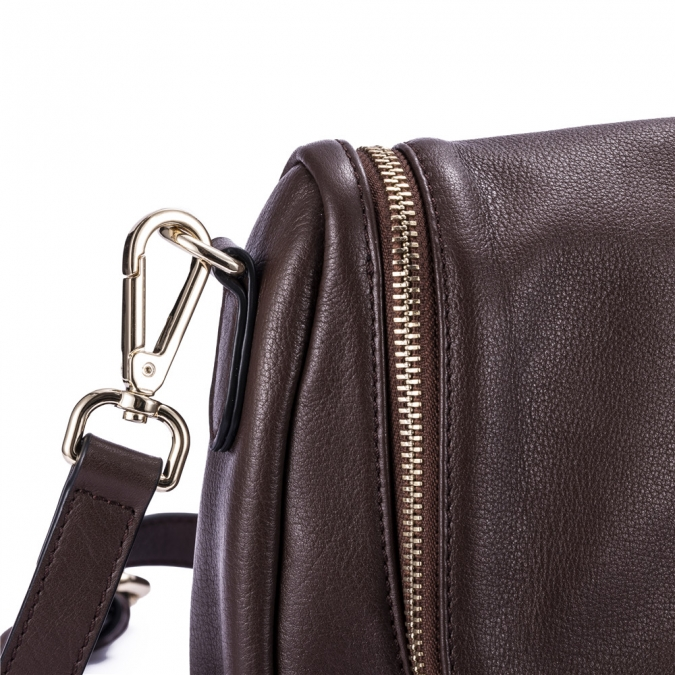 Bolso crossbody de cuero suave real del vendedor caliente de gionar leather bag factory